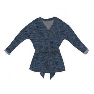 Tuto Kimono bleu France Duval Stalla